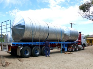 galvanised iron rain water tanks cone top