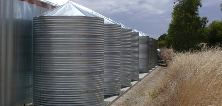 Side by Side Galvanised tanks