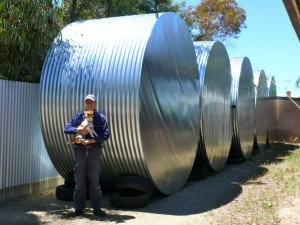 4000 gallon rain water galvanised tanks